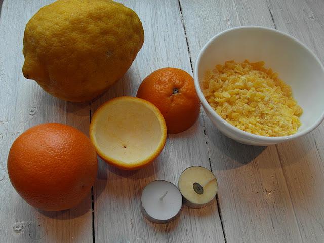 materiales vela con naranja