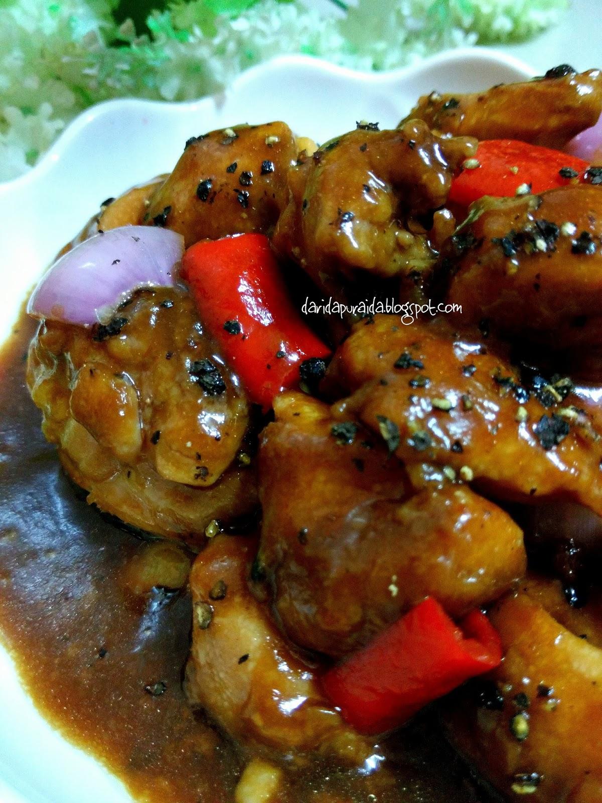 Dari Dapur Aida Black Pepper Chicken Ayam Masak Lada