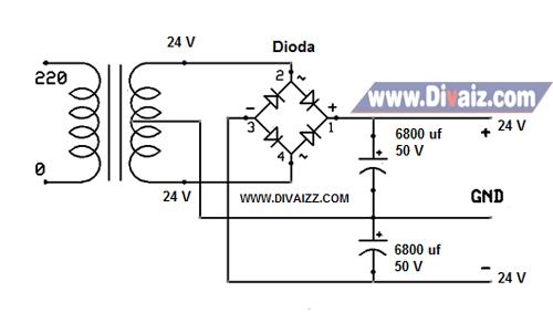 Skema adaptor 24 Volt CT 1 - www.divaiz.com