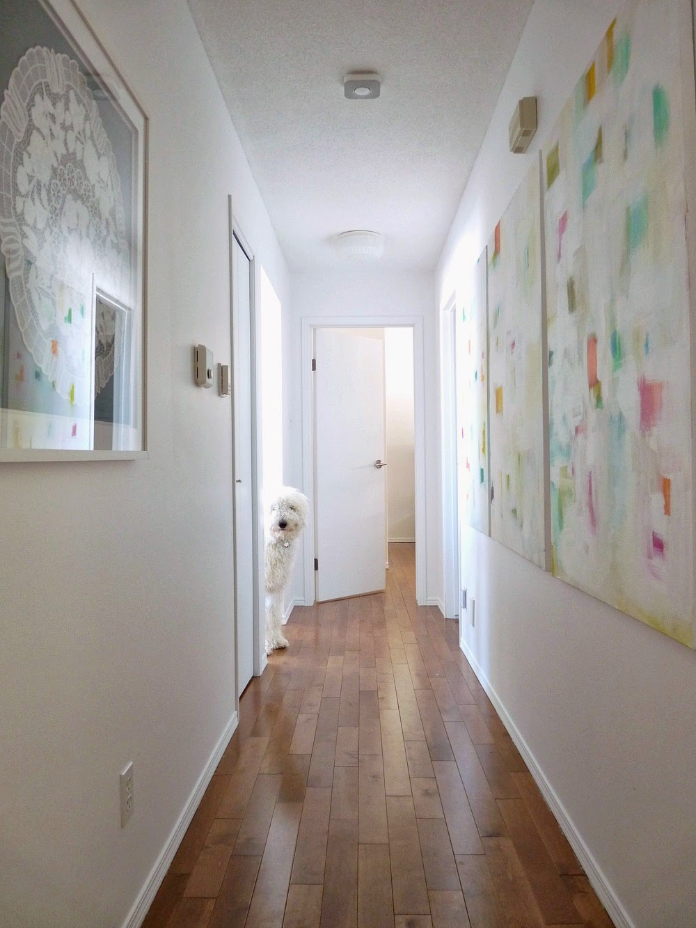 White Hallway Makeover