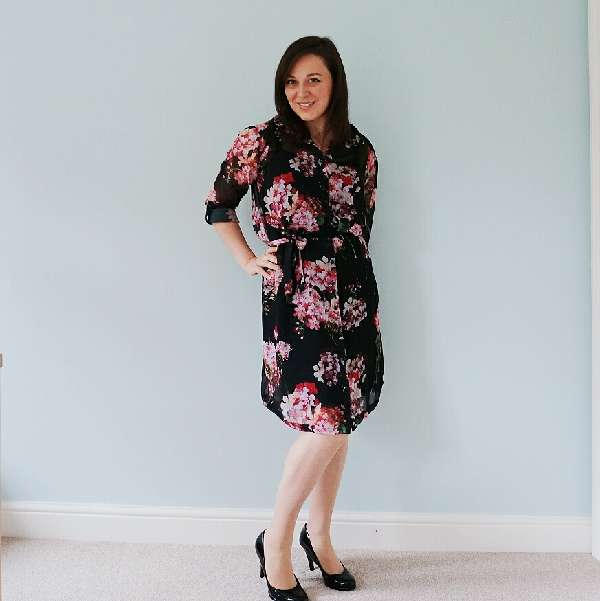 Floral chiffon Alex shirt dress from Sew Over It My Capsule Wardrobe: City Break ebook pattern review