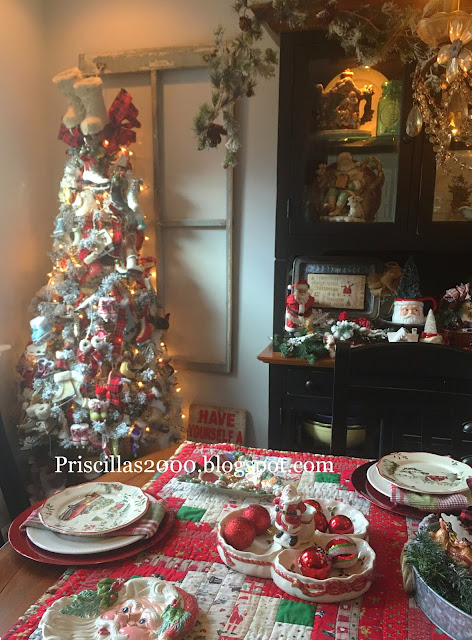 Priscillas The Ice Skate Tree And The Dining Room