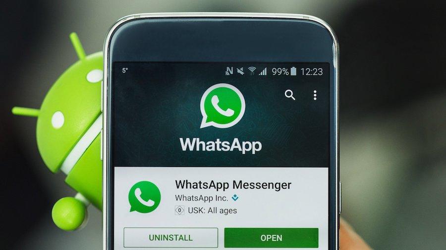 screenshot che mostra come Inviare la posizione su WhatsApp con Android