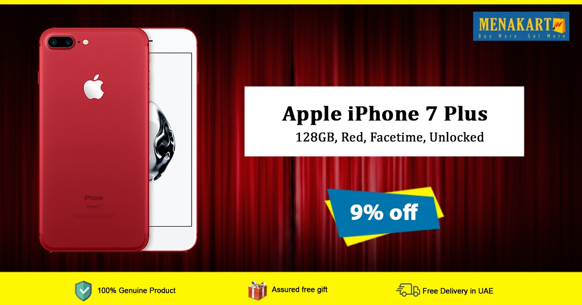 Online Shopping in Dubai: Shop for Apple iPhone 7 Plus - 128GB, Red