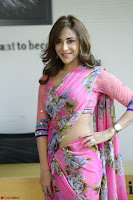 Actress Angela Krislinzki in Pink Saree Blouse Exclusive Pics March 2017 ~  125.JPG
