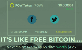 earn free pow lite  coin airdrop
