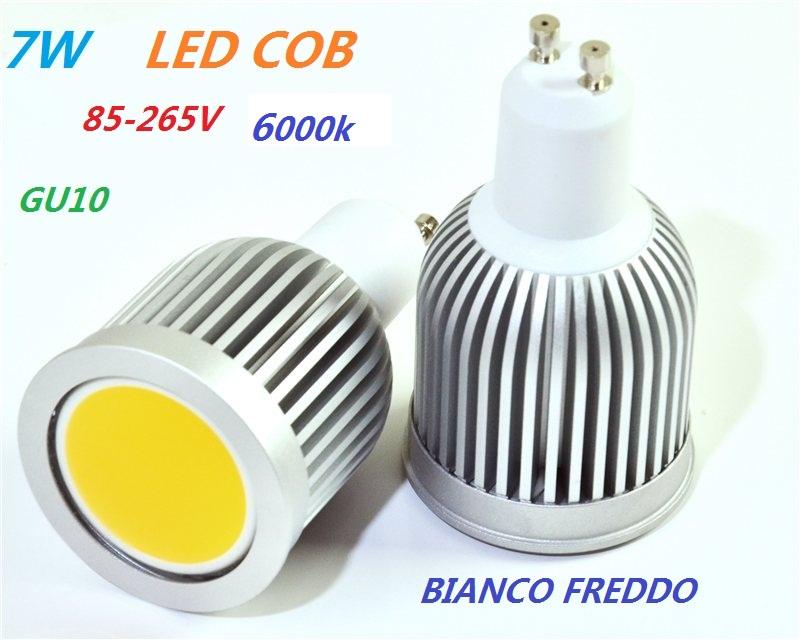 Lampada Per Faretto A Led.Lampada Faretto Led Gu10 Cob 7w 220v Bianco Freddo 600 Lumen