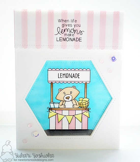 When Life Gives You Lemons Card by Yukari Yoshioka | Freshly Squeezed stamp set by Newton's Nook Designs #newtonsnook