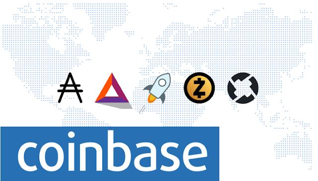 Carteira Coinbase Interessada em Zcash, BAT, Stellar, Cardano e 0x