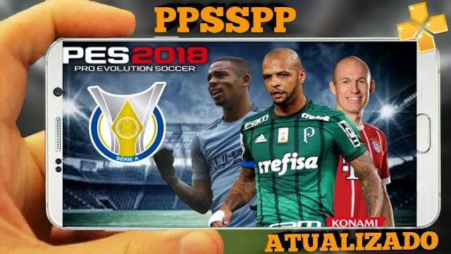 PES 2018 NOVO PATCH BRASILEIRO e EUROPEU ATUALIZADO PARA PPSSPP, ANDROID