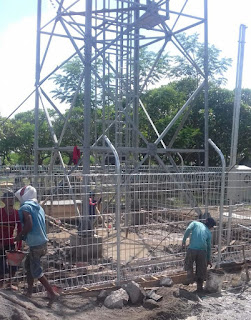 "Terbukti Langgar Perbup No.50 tahun 2012, Matrial Tower ""bodong"" Disita Petugas"