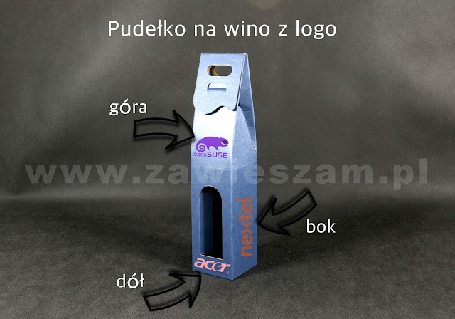 pudełka na wino z logo firmy