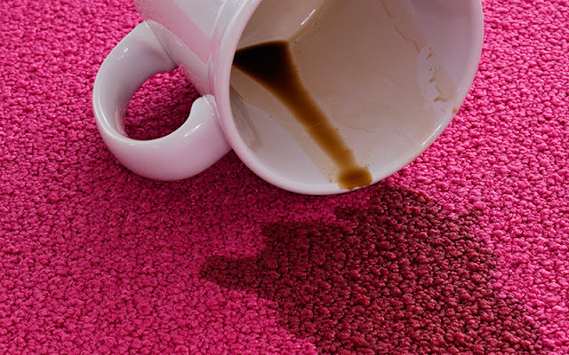 Coffee spill on carpet