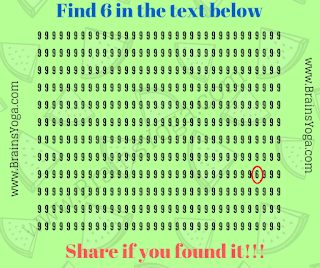 Answer of Non Verbal Hidden Number Puzzle