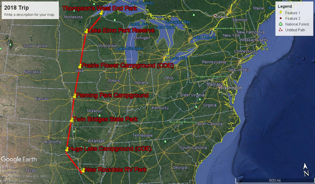 preliminary route and campgrounds maybe