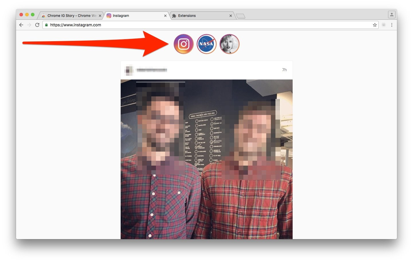 download instagram stories chrome extension