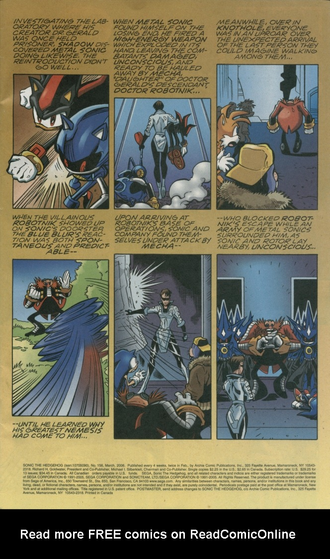 Read online Sonic The Hedgehog comic -  Issue #158 - 3