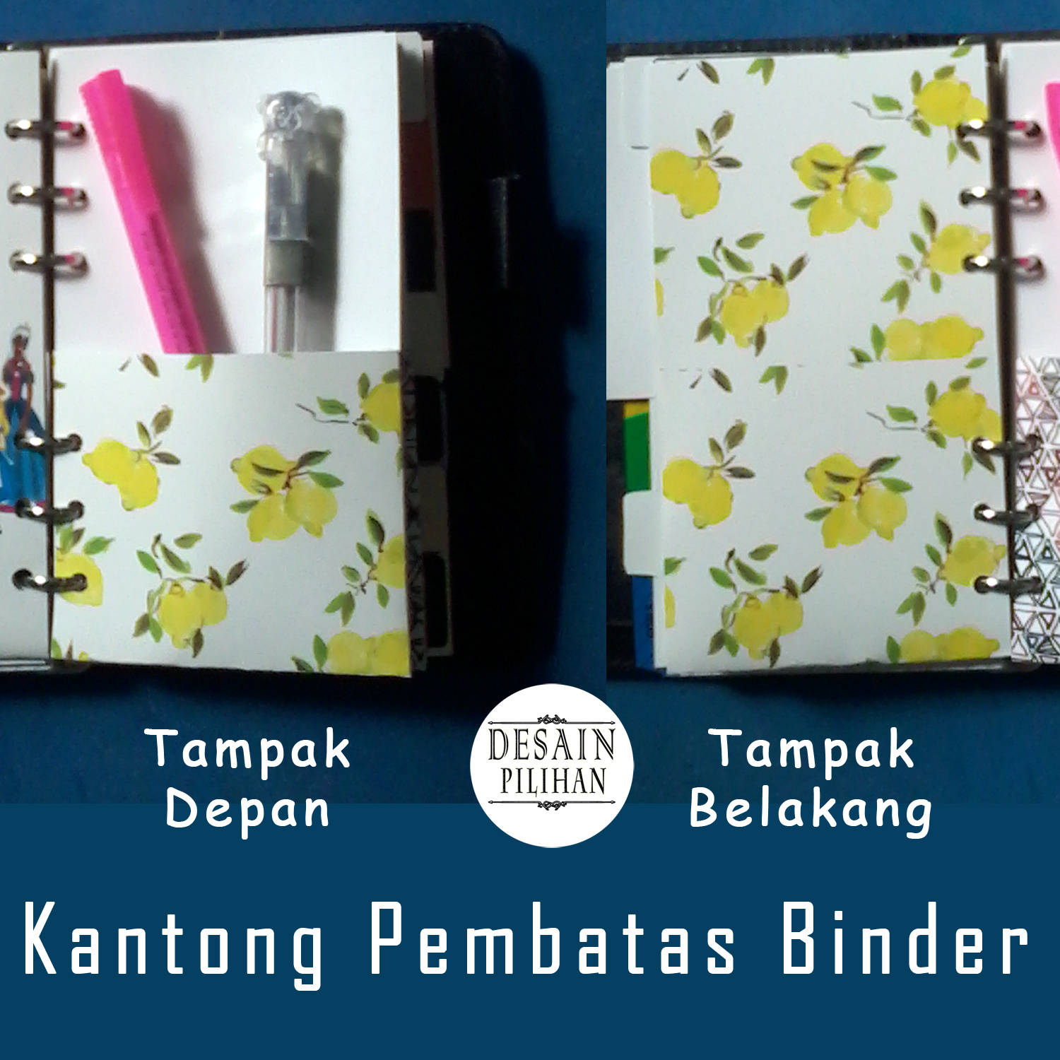 POCKET DIVIDER YELLOW FLOWER