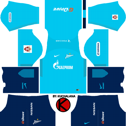 Zenit St Petersburg Kits 2017/18 - Dream League Soccer