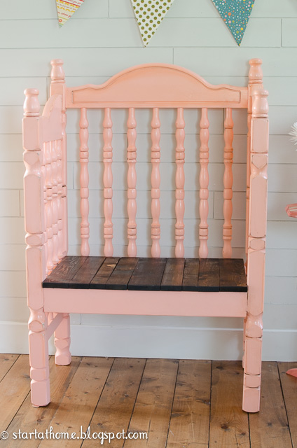 Crib Turned Bench Tutorial | Start at Home Decor