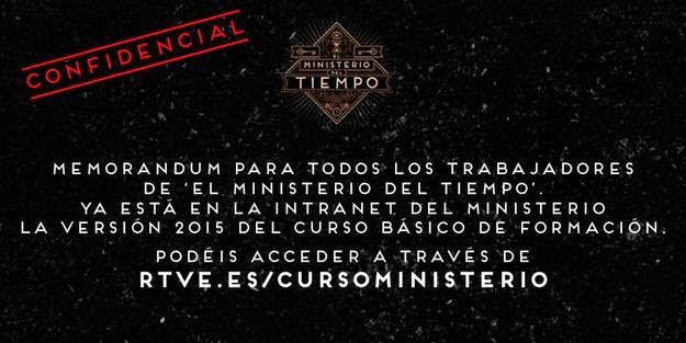 http://www.rtve.es/television/20150220/curso-formacion-online-funcionarios-ministerio-del-tiempo/1102182.shtml