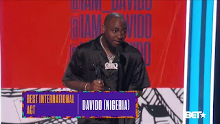 Davido wins BET awards