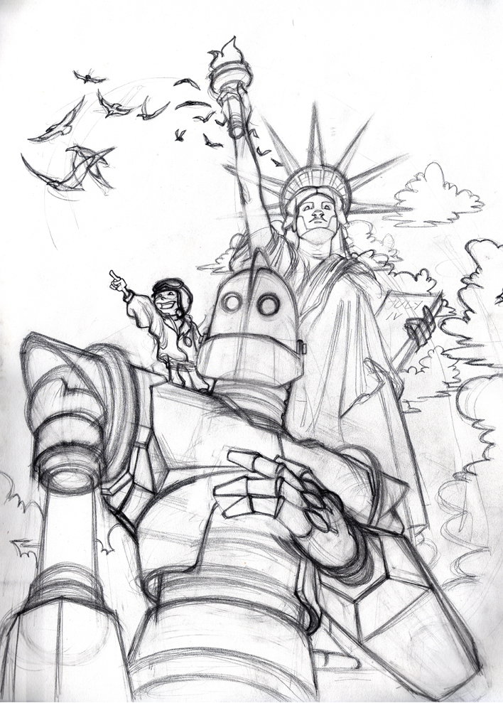 for Iron giant coloring pages