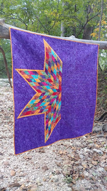 Lonestar quilt with free motion quilting