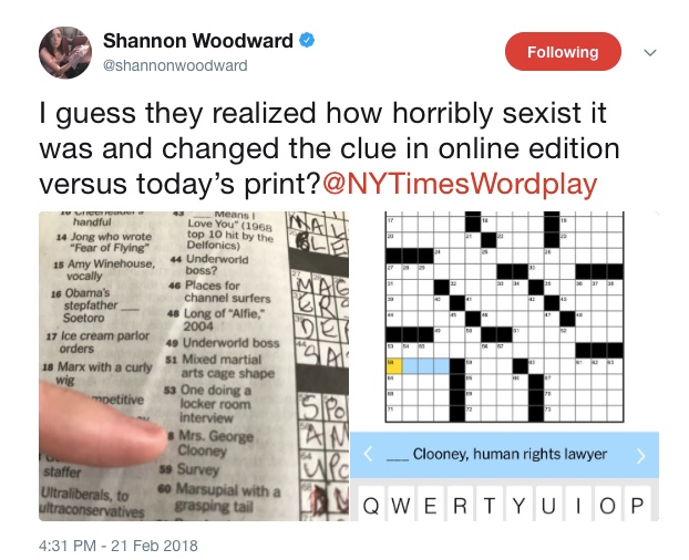 Rex Parker Does The Nyt Crossword Puzzle Request To Be Connected On