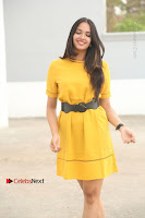 Actress Poojitha Stills in Yellow Short Dress at Darshakudu Movie Teaser Launch .COM 0011.JPG