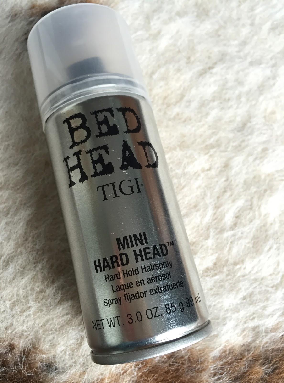 Kittykat Loves Makeup Tigi Bed Head Hard Head Hairspray Review