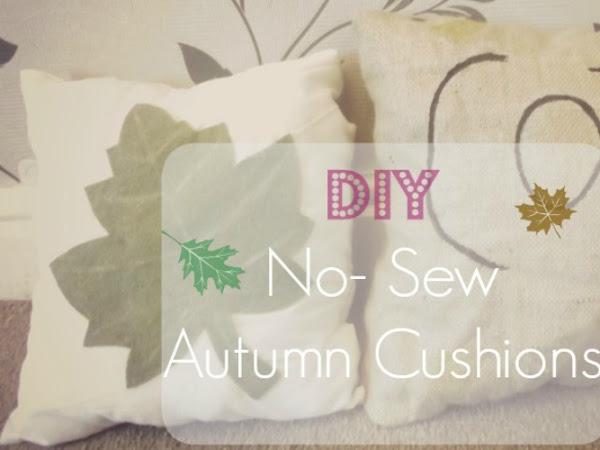 DIY Autumn Cushions
