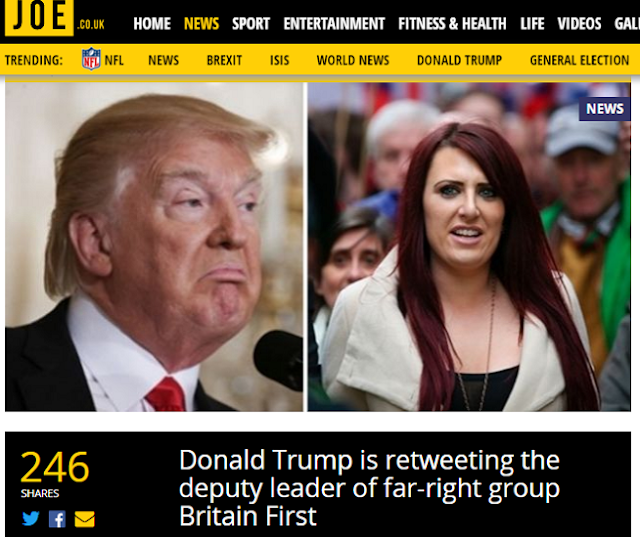 Donald Trump is retweeting the deputy leader of far-right group Britain First