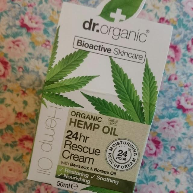 Mum to be pamper hamper Dr organic 24hr rescue cream