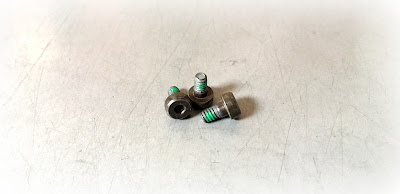 "Custom Socket Shoulder Screws With Thread Locking Nylon Patch - 6-32 X .393"" In Grade 2 Material With Phos Finish"