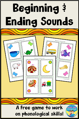 Have fun with beginning and ending sounds with this free phonology download from Looks like Language!