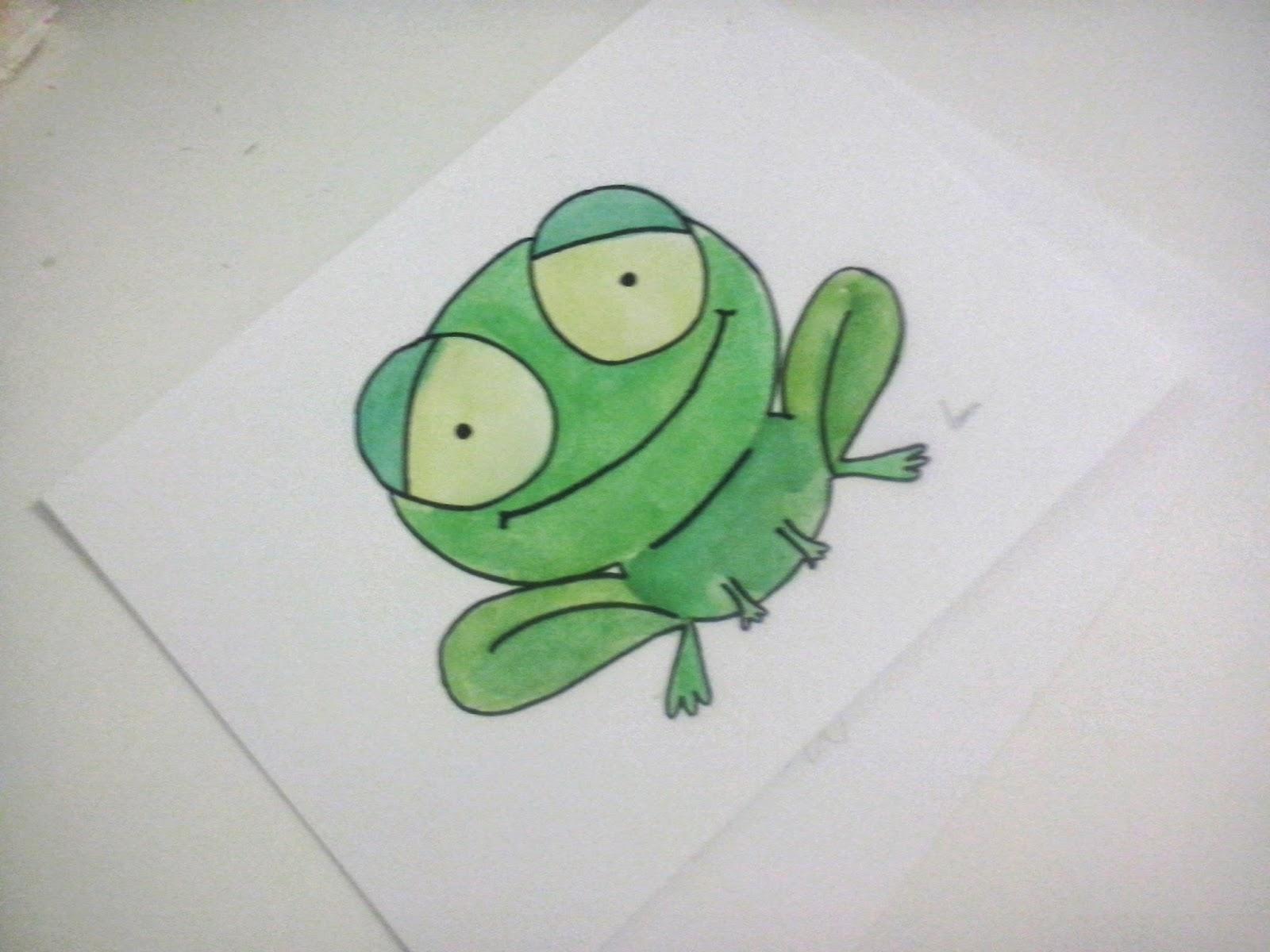 cómo dibujar una rana a partir de círculos