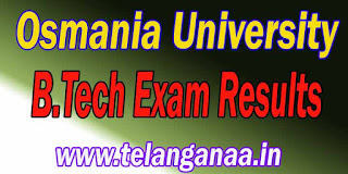 Osmania University B.Tech Exam Results Download