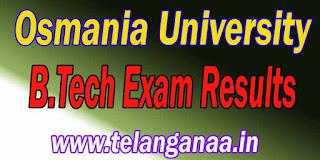 Osmania University B.Tech Exam Results Download