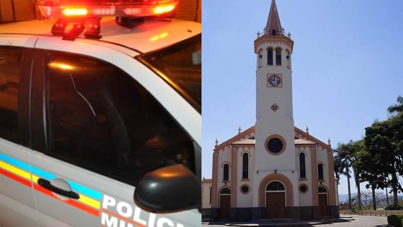 Menores são apreendidos tentando furtar cofre da Igreja Matriz de Jacutinga