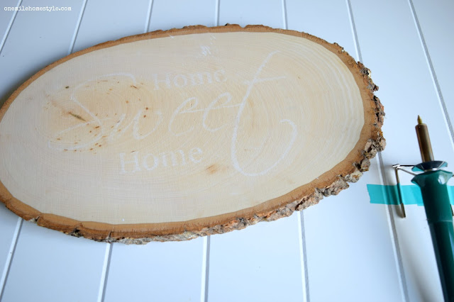 How to DIY Wall Art with a Wood Burning Tool - One Mile Home Style