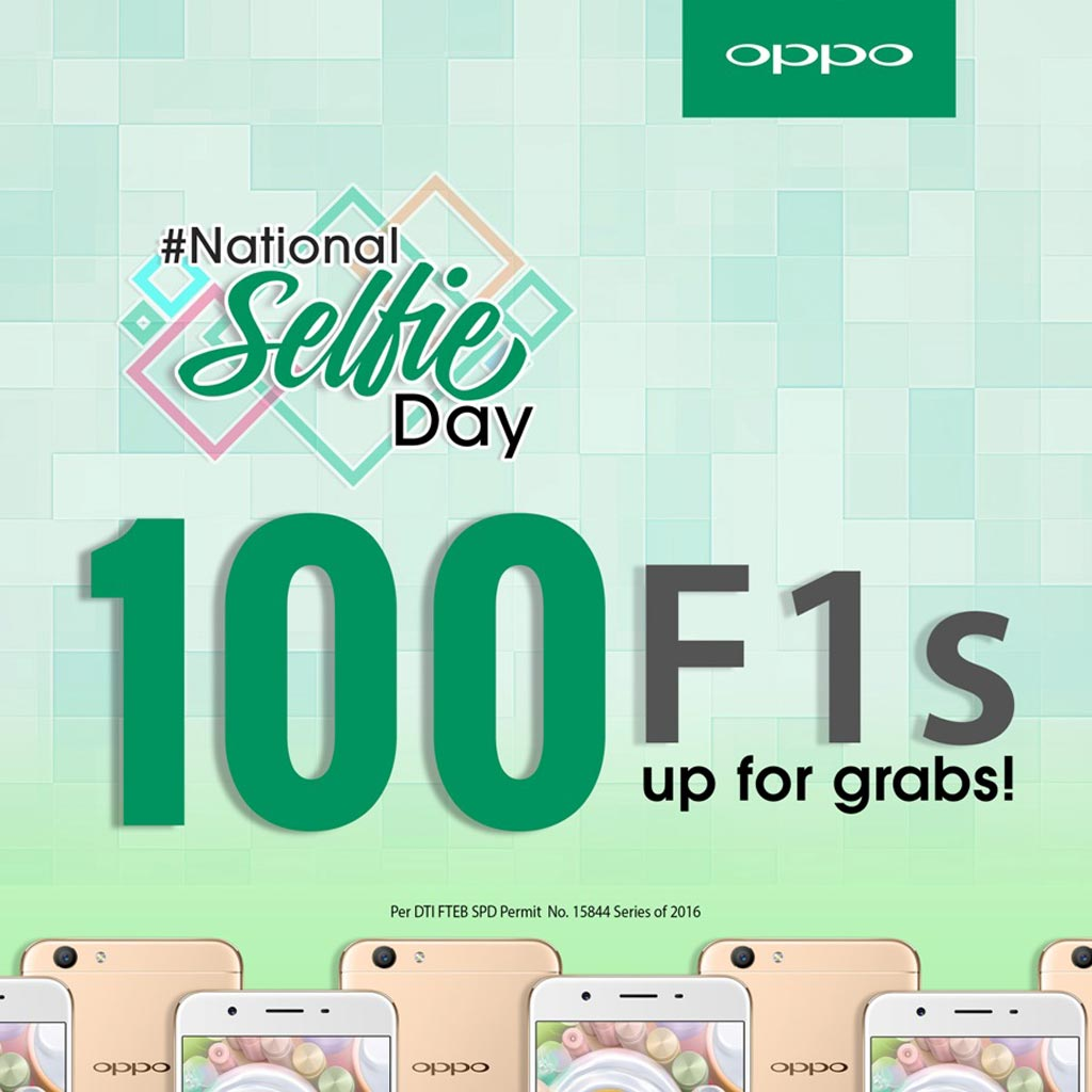 Oppo is giving away 100 F1s in the NationalSelfieDay Contest