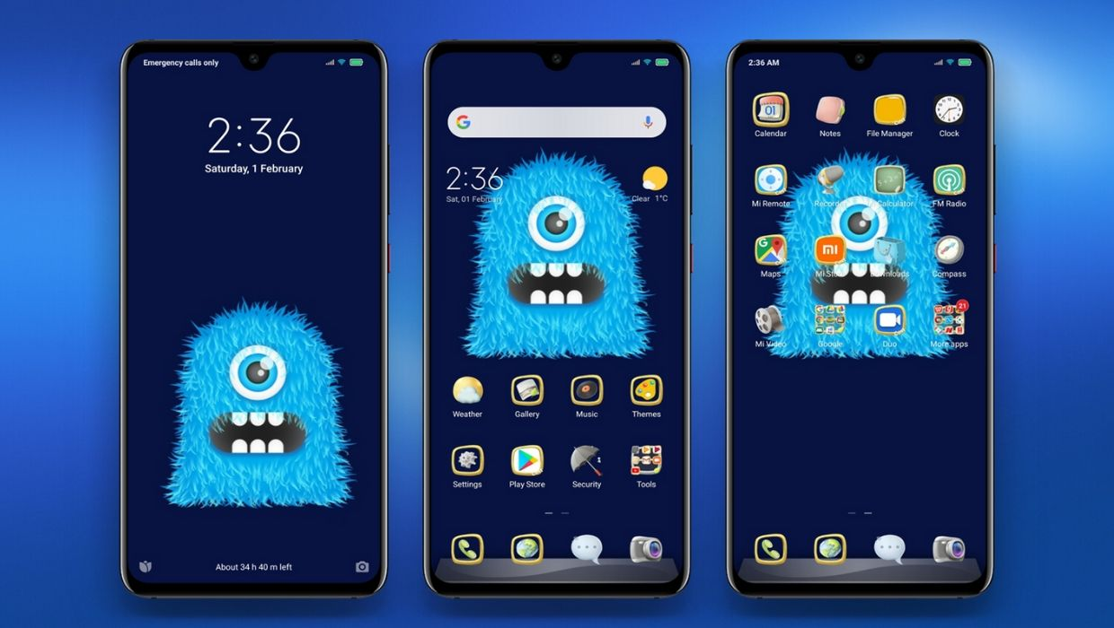 Blue 2020 Dual Mode MIUI Theme