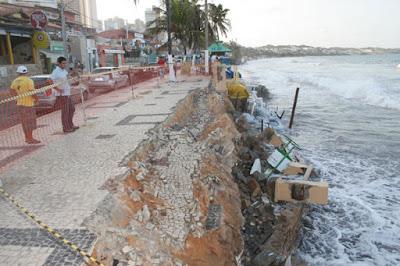 Resultado de imagem para conter o avanço do mar no litoral potiguar