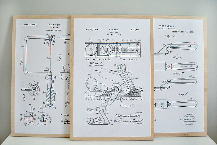 Woodworking Patent Drawing Art - Free Download