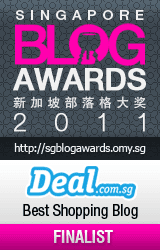 Singapore Blog Award 2011 Best Shopping Blog Finalist