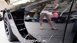 Dodge Viper Woman in Paint Reflection