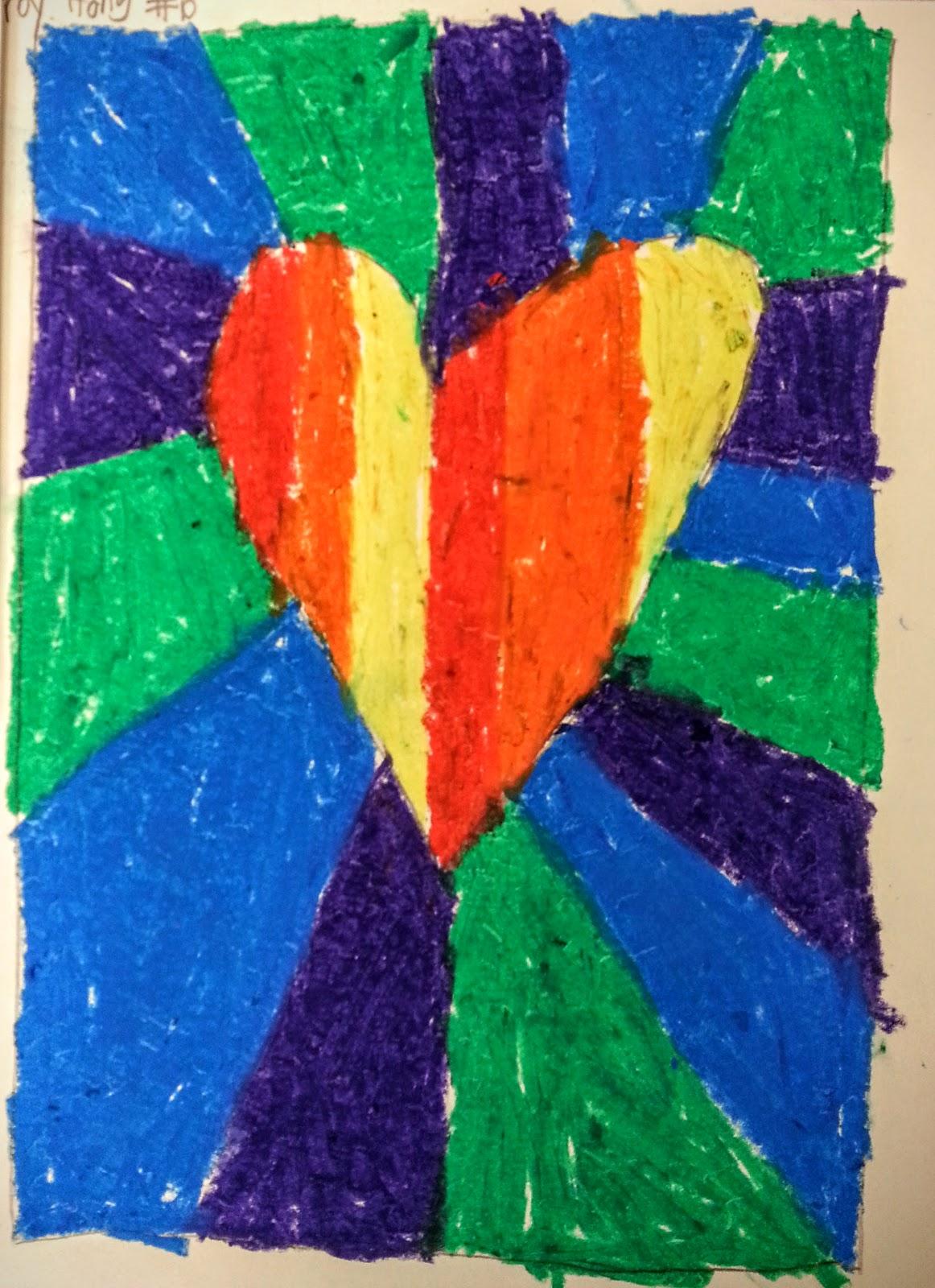 Oc Art Studios Gallery Super Easy Valentine Art Lesson With Oil Pastels
