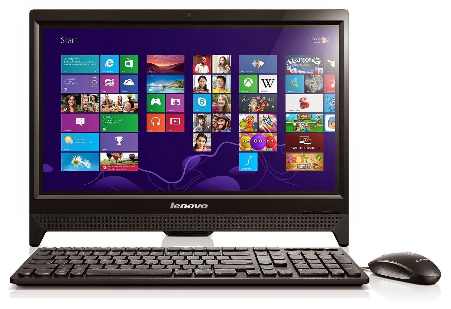 Lenovo C260 19,5 inci Touchscreen All-In-One Desktop