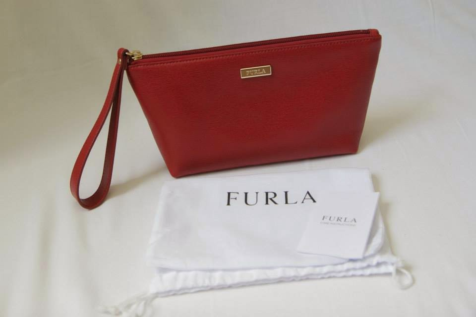 I Want Bags backup  Furla Saffiano Leather Wristlet   Pouch-Red (Pre ... 099e6d3d5afb6